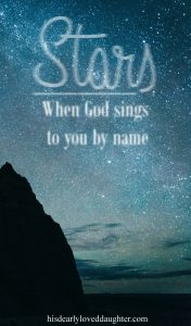 """One night, while I was deep in a depression brought on by the turmoil in my life, God used a song to speak directly to me. Skillet's song """"Stars"""" will forever be special to me because of that night. God reignited my hope in those moments, and reassured me of His love. #hisdearlyloveddaughter #skillet #panhead #stars"""