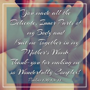 You made all the delicate inner parts of my body and knit me together in my mother's womb. Thank-you for making me so wonderfully complex! Psalms 139:13-14 How to Respond to God's Intimate Love #HisDearlyLovedDaughter #Verses #Bible #wordofgod #scripture #truth #biblestudy