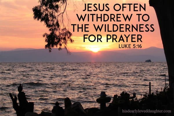 Jesus often withdrew to the wilderness for prayer. Luke 5:16