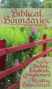 Biblical Boundaries - A 6 Part Series