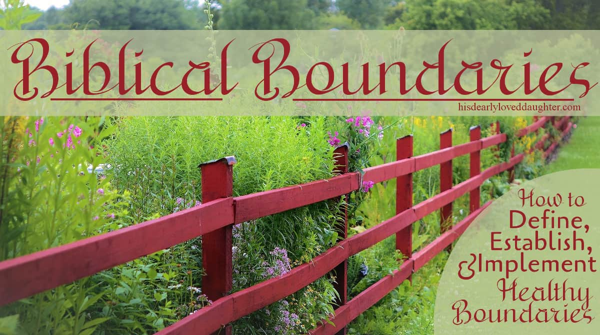 Biblical Boundaries Series Title