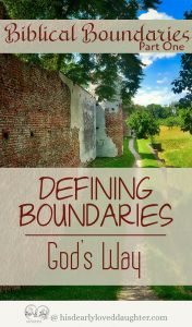 Defining Boundaries - God's Way