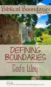 Defining Boundaries - God's Way