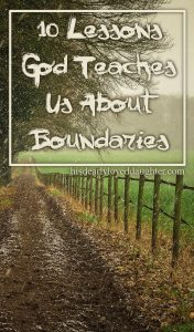 In this third part of the Biblical Boundaries series, we'll explore 5 more principles we can learn about boundaries from observing God's boundaries in the Bible. #hisdearlyloveddaughter #godinthehardplaces #gracegirls #boundaries #biblicalboundaries #healthyboundaries #marriage #brokenmarriage #healthymarriage