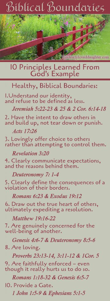 10 Biblical Boundaries Principles Learned From God's Example.