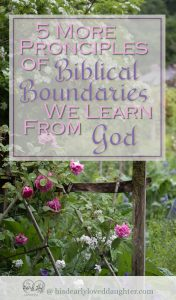 5 More Principles of boundaries we learn from God