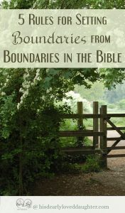 5 Rules for Setting Boundaries from Boundaries in the Bible