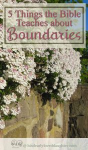 5 Things the Bible teaches about Boundaries