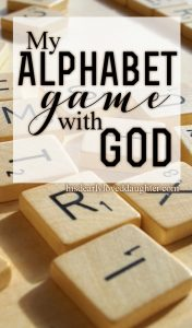 My Alphabet Game with God