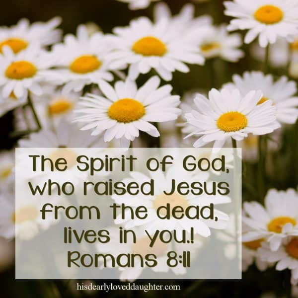 The Spirit of God who raised Jesus from the dead, lives in You! Romans 8:11