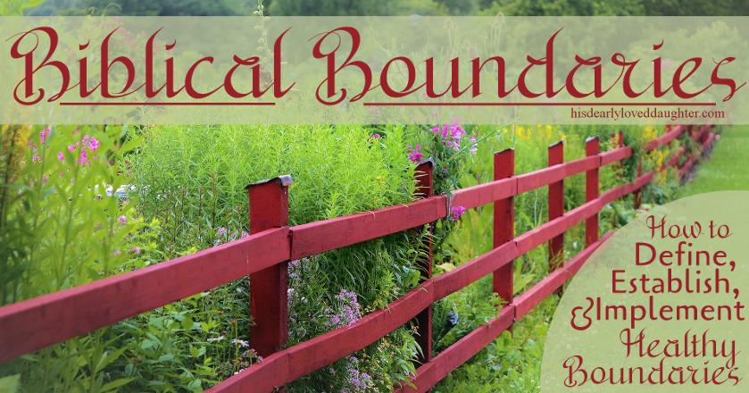 Biblical Boundaries