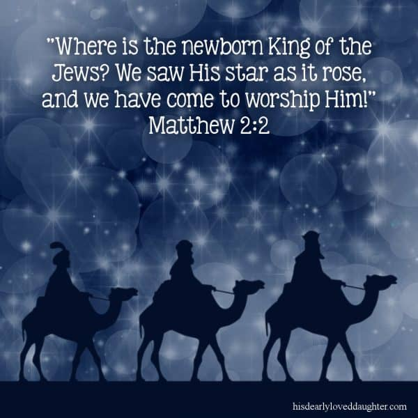 """""""Where is the newborn King of the Jews? We saw His star as it rose, and we have come to worship Him. Matthew 2:2"""