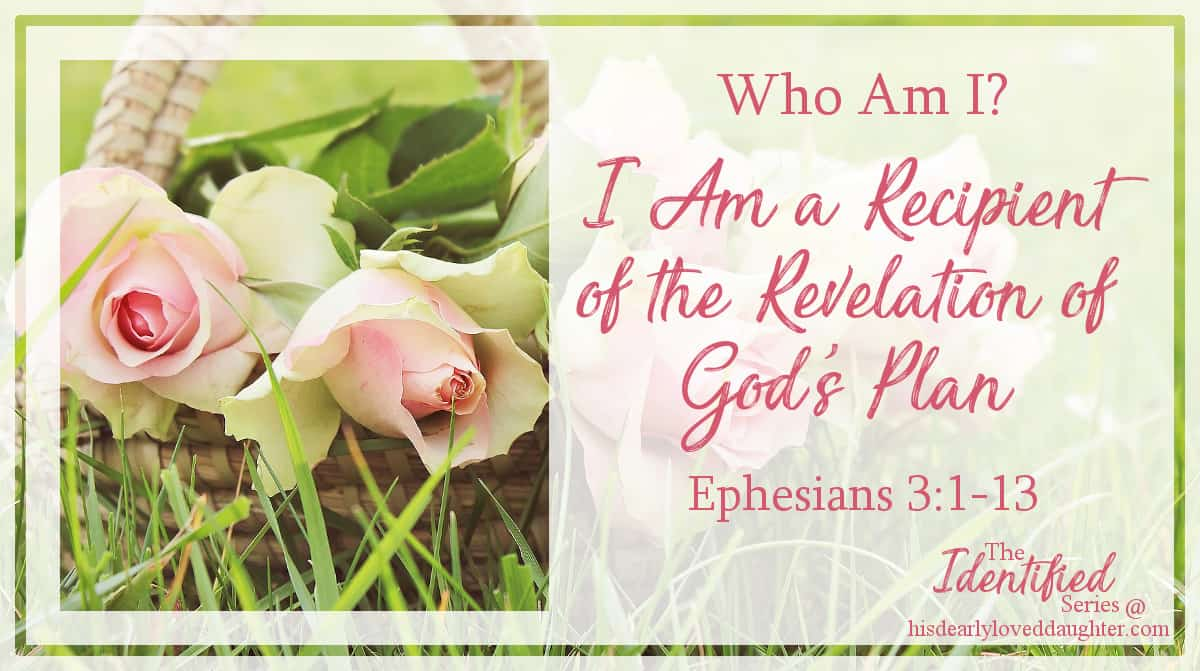 I am a recipient of the revelation of God's plan