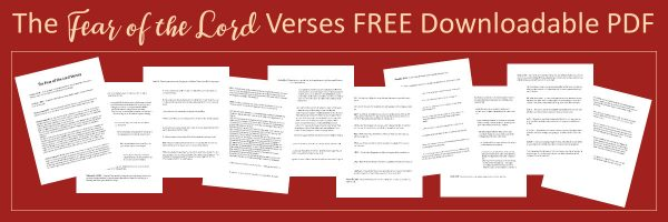 The Fear of the Lord Verses FREE Downloadable PDF