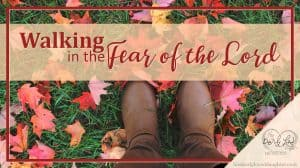 Walking in the Fear of the Lord