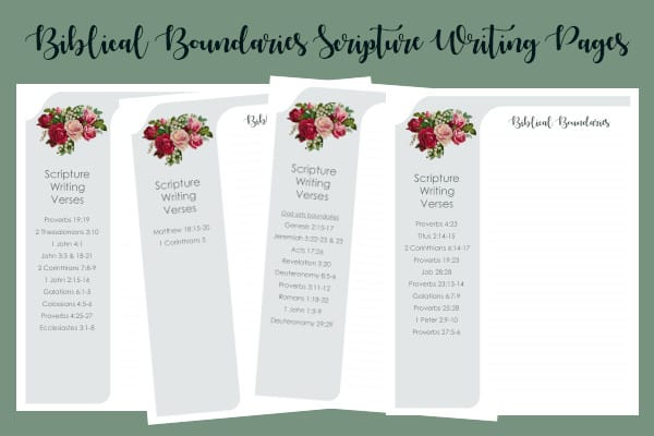 Biblical Boundaries Scripture Writing Pages