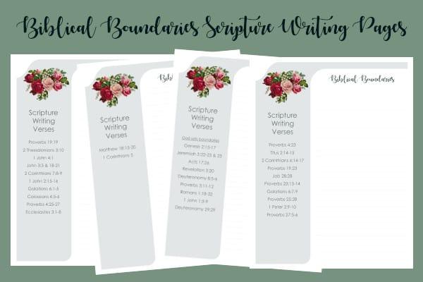 Biblical Boundaries Scripture Writing Pages